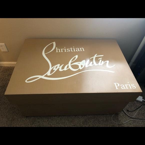 1e05f6341d7 Other | Giant Christian Louboutin Shoe Box Shoe Storage | Poshmark
